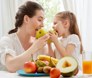 It's more fun when parents and kids eat healthy together.