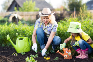 Kids learn about gardening and food when they grow vegetables.